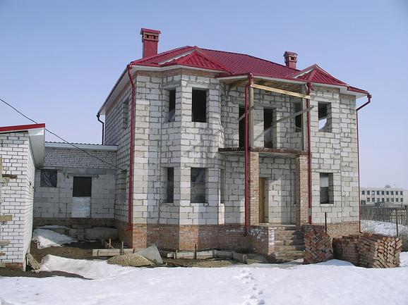Дома из пеноблока