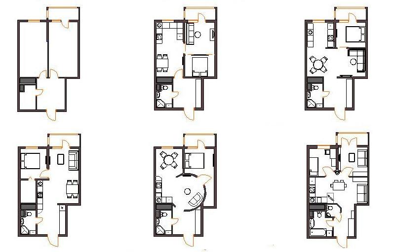 Образец проекта перепланировки - квартиры, для