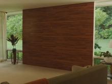 Декорирование стены с помощью ламината