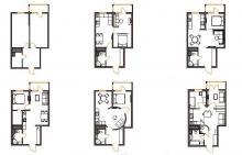 Четыре варианта перепланировки однокомнатной квартиры