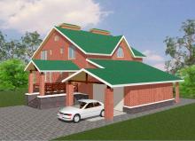 Проект коттеджа на 200 м2 с гаражом в Ижевске