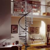 Винтовая лестница. Конструкция