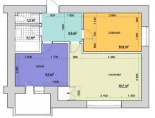 Перепланировка квартиры в Ижевске, интерьер двухкомнатной квартиры