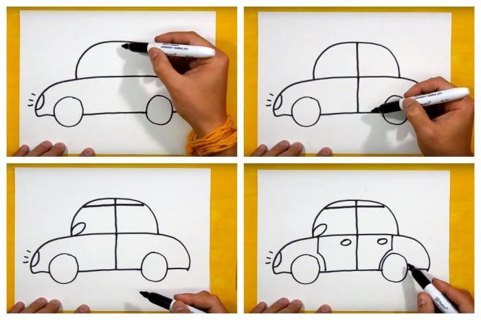 Как нарисовать машину своими руками: пошаговая инструкция