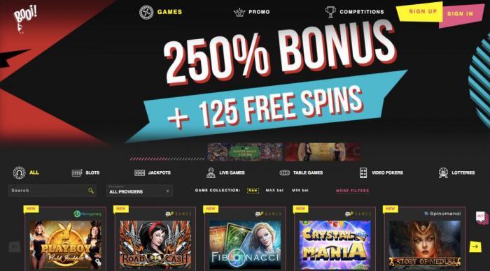 Сайт Booi Casino: перечень игр и преимущества