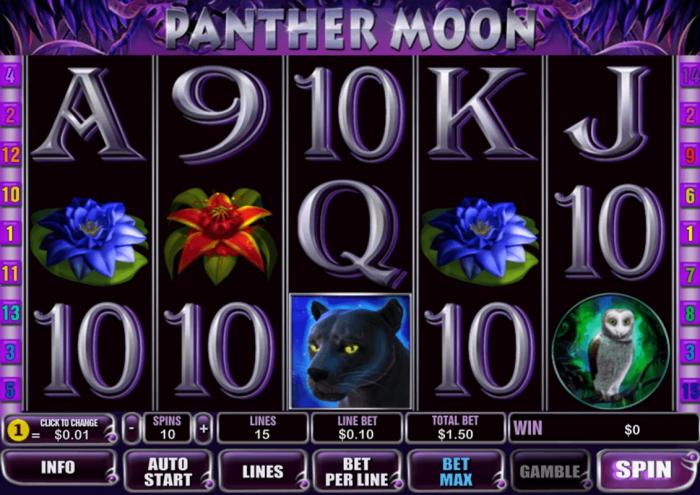 Описание слота Panther Moon в казино Вулкан Платинум