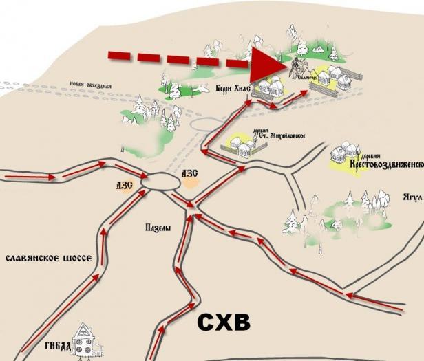 """Коттеджный поселок """"Святогор"""", 4 км к северу от Ижевска."""