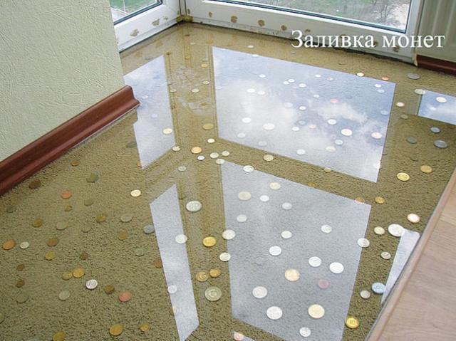 фото заливные полы цена