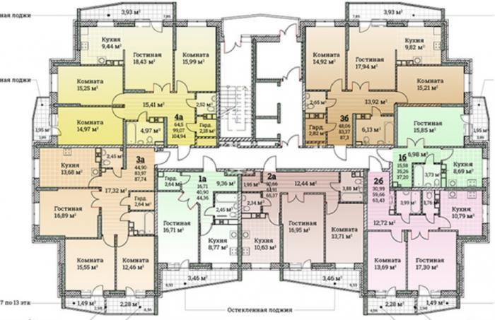 ЖК Ключевой план этажа