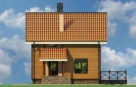дом из пеноблоков фасад