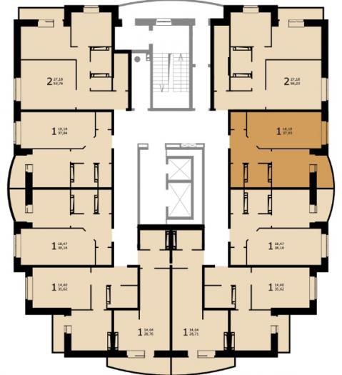 Планировки квартир дома №49 в ЖК Виктория Парк в Ижевске