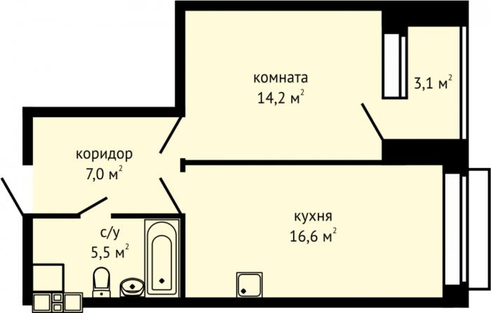"""Планировки квартир ЖК """"Гранд"""" в Ижевске"""