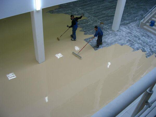 Наливной полимерный пол цены ижевск ту мастика битумная гидроизоляционная